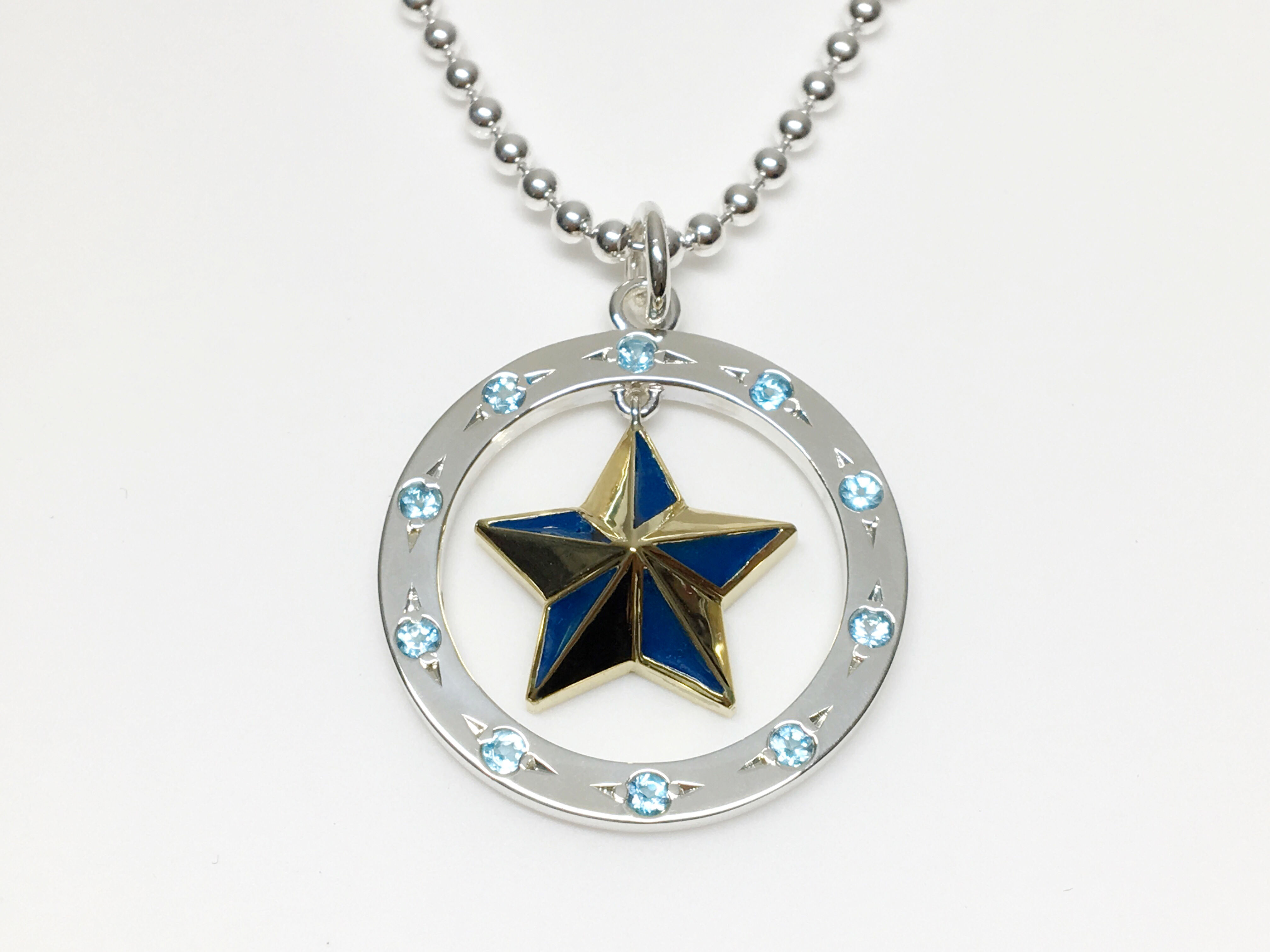 Star circle pendant blended fam mozeypictures Choice Image
