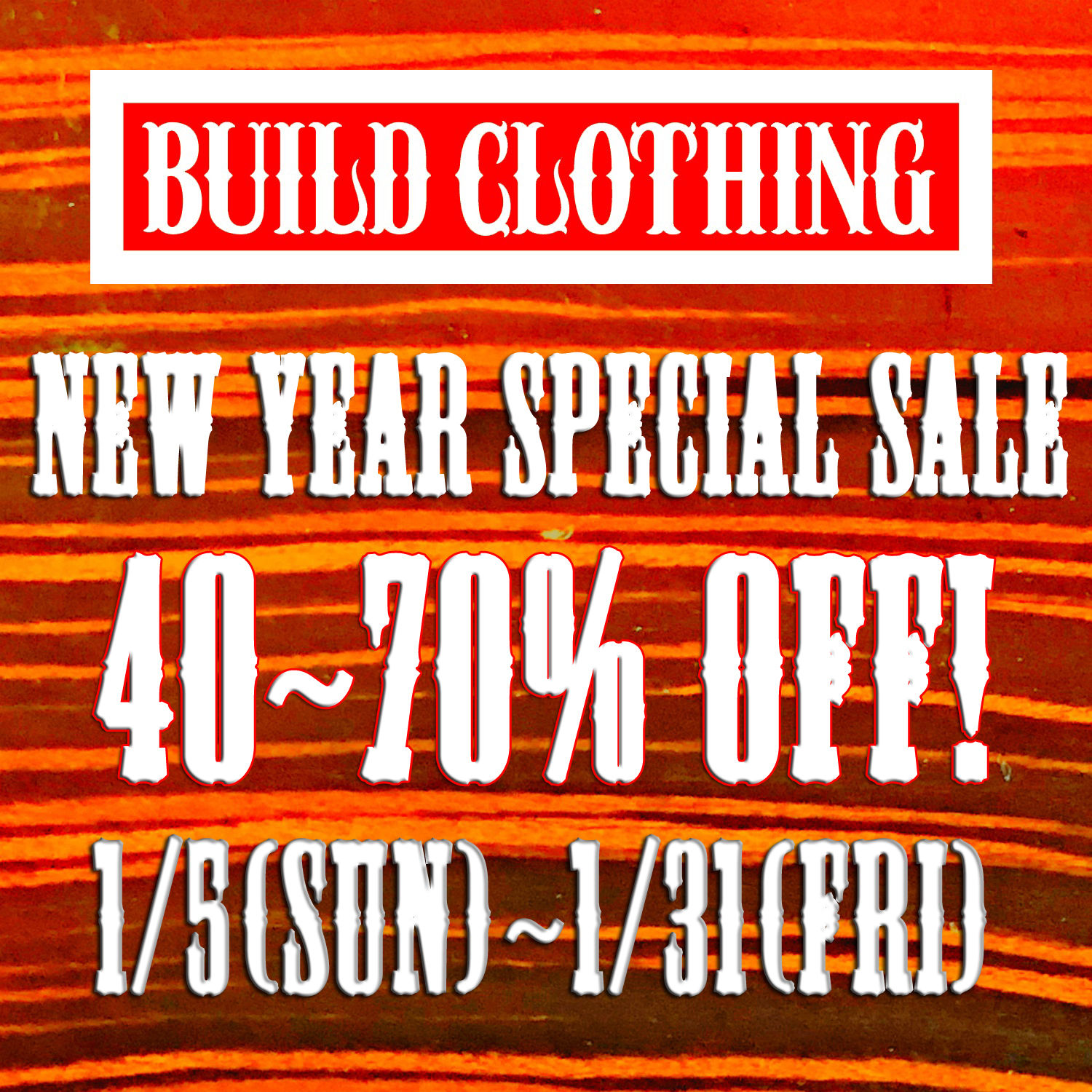 NEW YEAR SALE !