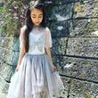 Tutu du monde★スパンコールの蝶蝶とアシメトリーのチュールスカートが美しいチュチュドレス