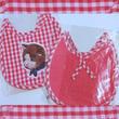 ナタリーレテNatalie Lete☆インポート雑貨/ネコのアプリケが可愛いギンガムチェックのスタイ(ピンク)ナタリーレテ キッチュ paris france ドール キティ バニー お洒落な雑貨
