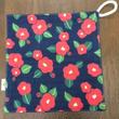 椿柄 handkerchief