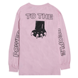 RARE PANTHER POWER TO THE PEAPLE  L/S TEE       PINK