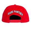 RARE PANTHER CORDUROY  SNAPBACK      RED