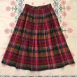 USA製 ピンク系 チェック柄 スカート/古着 ビンテージ