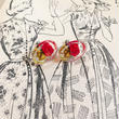 1950s~ vintage ルーサイト 薔薇 イヤリング/古着 ビンテージ バラ