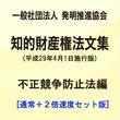 【通常+2倍速】(一社)発明推進協会・知的財産権法文集(平成29年4月1日施行版)/不正競争防止法編