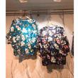 【韓国ファッション】フラワーシースルーブラウス