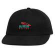 BUTTER GOODS RACING 6 PANEL CAP, BLACK