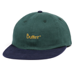 BUTTER GOODS 2-TONE BRUSHED 6 PANEL CAP NAVY / FOREST