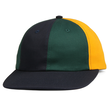 BUTTER GOODS PATCHWORK 6 PANEL CAP, NAVY/FOREST/YELLOW