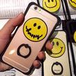 【MT 022】iPhone6/6s/6Plus/6sPlus スマイリー バンカーリング付き iPhoneケース ポップ イラスト かわいい シンプル