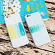 [KS161] ★ iPhone SE / 5 / 6 / 6Plus / 7 / 7Plus ★シェル型 ケース パラダイス 水彩画 アート パステルカラー iPhone ケース