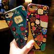 [KS155] ★ iPhone 6 / 6Plus / 7 / 7Plus ★シェル型 ケース カラフル アート デザイン フレンチ 花柄 おしゃれ iPhone ケース