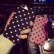 [KS132] ★ iPhone 6 / 6Plus / 7 / 7Plus ★ シェル型 ケース ブラック ピンク シンプル プチ ハート 柄 ニュアンス iPhone ケース