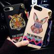 [KS177] ★ iPhone 6 / 6Plus / 7 / 7Plus ★シェル型 ケース ブラック トラ ピンク ウサギ アニマル デザイン スタッズ ストラップ iPhone ケース