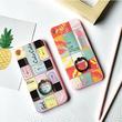 【AO134】★ iPhone6 / 6Plus / 6s / 6sPlus / 7 / 7Plus ★リップ&ネイル イラスト スタンド リング付 iPhoneケース