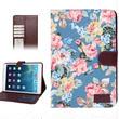 【TH033】★ iPad mini retina ★ フローラル 手帳 タイプ 花柄 3色 ( ブラック ブルー ホワイト ) おしゃれ かわいい キュート