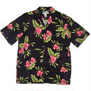 Two Palms / Hawaiian Shirt Orchid Fern - BLACK