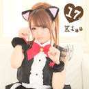 Frill cat maid Black × Red