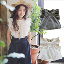 kids★frill sleeve blouse