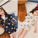 kids★bear print pajamas
