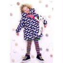 Mim-Pi(ミンピ)★スワン柄キルトダウンジャケット風コート Swan Print Jacket