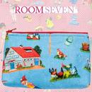 Room Sevenの小人とファーム柄ポーチ(ブルー)