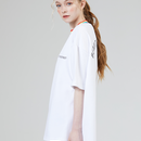Motivestreet RAINBOW NECK POINT TEE  (White)