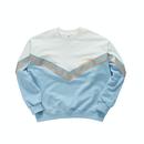 『Motivestreet』V-スコッチスウェットシャツ (Skyblue)