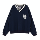 Motivestreet V-NECK SWEAT SHIRT (Navy)