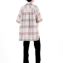 BY.L  OVERSIZE NOTCHILD CHECK SHIRT (Beige)