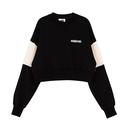Motivestreet CROP TOP SWEAT SHIRT (Black)