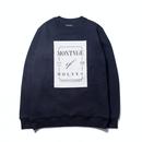 【再入荷】『LOUPS BLANCS』モンタージュスウェットシャツ (Navy)