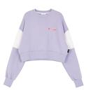 Motivestreet CROP TOP SWEAT SHIRT (Purple)