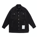BY.L STITCH SHIRT JACKET (Black)