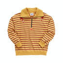 『Motivestreet』STRIPE HALF ZIPUP SWEAT SHIRT (Mustard)