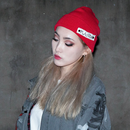 Blackblond BBD Side Patch Long Beanie (Red)