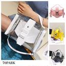 #2way PVC Belted Shoulder Bag  クリア ベルテッド ショルダーバッグ 全4色 ミニポーチ付