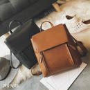 #2way PU Leather Square Backpack  PUレザー スクエア バックパック 全4色 リュックサック
