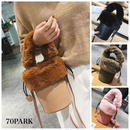 #2way  Faux Fur Handle Bucket Bag  ファーハンドル バケツバッグ  全4色 ショルダー