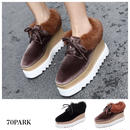 #Faux Fur Velvet Platform Shoes  ベロア フェイクファー 厚底 プラットフォーム シューズ  全2色