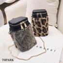 #Faux Fur Cylindrical bag  エコファー 筒型 ショルダーバッグ 全2色 豹柄