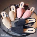 #Suede Low Heel Slippers  スエード ローヒール スリッパ  全3色 ミュール サンダル