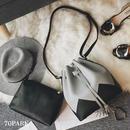 # Zigzag Bucket Bag  ジグザグ デザイン 巾着バッグ ポーチ付 全4色 大容量