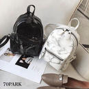 #Marble Print Mini Backpack  大理石柄 フロントポケット ミニ バックパック 全2色