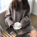 #Oversized Crew Neck  Sweater クルーネック オーバーサイズ ルーズ ニット 全2色