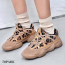 #Leopard Dad Sneakers レオパード柄 ファー ダッド スニーカー 全2色 厚底