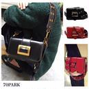 #Double strap Shoulder Bag  ダブルストラップ ゴールドバッグル ショルダーバッグ 全2色