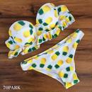 #Pineapple Frill Bikini パイナップル柄 フリル ビキニ 水着 スイムスーツ  バンドゥ