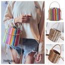 #2way MIx Color Chain Basket Bag ミックスカラー チェーン ショルダー かご バケツバッグ 全4色